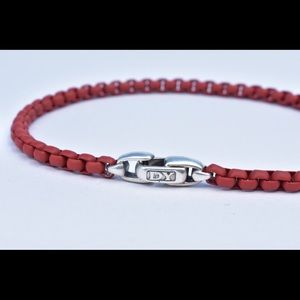 David Yurman box chain bracelet in burgundy